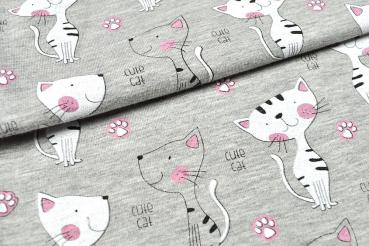 Jersey - Cute Cat, 150cm breit